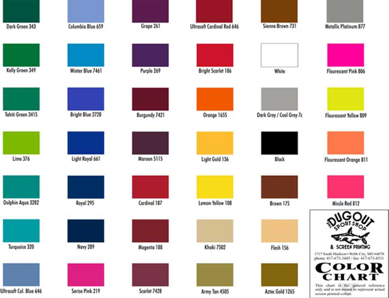 The Dugout Sport Shop Screen Printing Home Custom Designed
